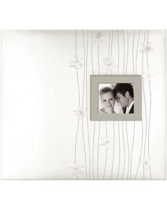 "K&Company Fabric Post Bound Window Album 12""X12""-Forever Yours"