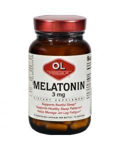 Olympian Labs Melatonin - 3 mg - 75 Capsules