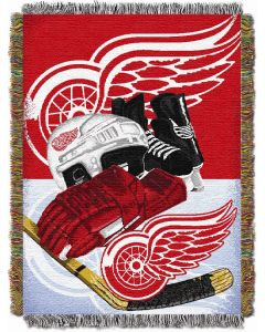 """The Northwest Company Red Wings  """"Home Ice Advantage"""" 48x60 Tapestry Throw"""