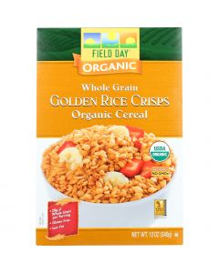 Field Day Cereal - Organic - Whole Grain - Golden Rice Crisps - 12 oz - case of 12