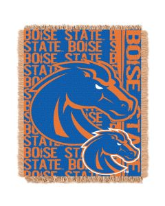 The Northwest Company Boise State College 48x60 Triple Woven Jacquard Throw - Double Play Series