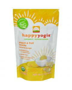 Happy Baby HappyMelts Organic Yogurt Snacks for Babies and Toddlers Banana Mango - 1 oz - Case of 8