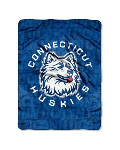 The Northwest Company Uconn Micro Grunge  Micro 46x60 Raschel Throw (College) - Uconn Micro Grunge  Micro 46x60 Raschel Throw (College)