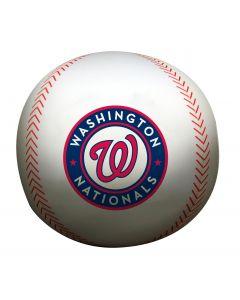 "The Northwest Company Nationals 12"" Diameter Beaded Spandex Baseball Pillow (MLB) - Nationals 12"" Diameter Beaded Spandex Baseball Pillow (MLB)"
