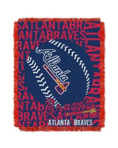 The Northwest Company Braves  48x60 Triple Woven Jacquard Throw - Double Play Series