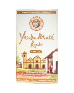 Wisdom of The Ancients Wisdom Natural Organic Yerba Mate Royale Tea Vanilla - 26 Tea Bags