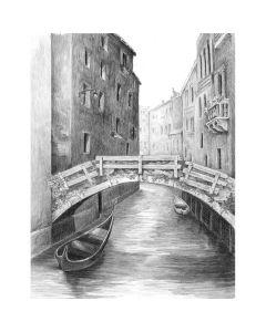 "Royal Brush Sketching Made Easy Kit 9""X12""-Venice Bridge"
