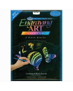 "Royal Brush Foil Engraving Art Blank Boards 5""X7"" 6/Pkg-Rainbow"