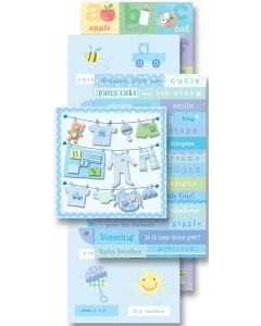 K&Company Flip Pack Sticker Embellishments-Baby Boy