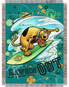 """The Northwest Company Scooby Doo - Dawgin Out 48""""x60"""" Tapestry Throw"""