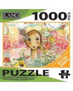 """LANG NEW! Jigsaw Puzzle 1000 Pieces 29""""X20""""-Joyful Girl"""