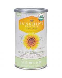 Sunshine Protein - Organic - Plant-Based - Unflavored - 12 oz