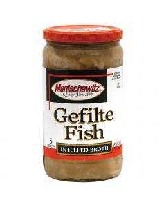 Manischewitz Gelfite Fish in Jelled Broth - Case of 12 - 24 oz.