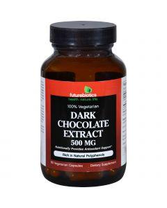 Futurebiotics Dark Chocolate Extract - 500 mg - 60 Vegetarian Capsules