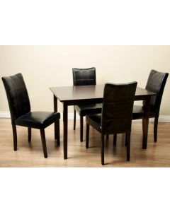 Warehouse of Tiffany Eveleen Black 5-piece Dining Furniture Set