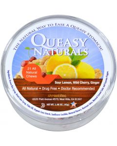 Three Lollies Queasy Naturals - Chews - Variety - Tub - 21 Count