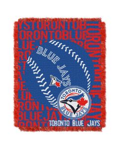 The Northwest Company Blue Jays  48x60 Triple Woven Jacquard Throw - Double Play Series