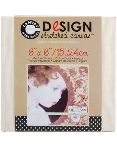 "Canvas Corp Stretched Canvas 6""X6""-Natural"