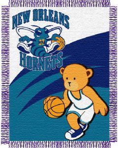 """The Northwest Company Hornets 044 baby 36""""x 46"""" Triple Woven Jacquard Throw (NBA) - Hornets 044 baby 36""""x 46"""" Triple Woven Jacquard Throw (NBA)"""